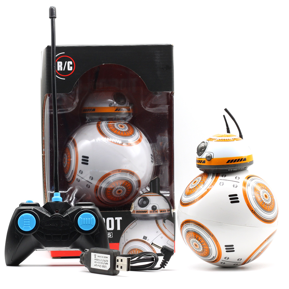 HOT BB-8 Ball Star Wars RC Action Figure BB 8 Droid Robot 2.4G Remote Control Intelligent Robot BB8 Model Kid Toy Gift star war bb 8 rc robot remote control bb8 action figure monster sex roll run ball toy sound light intelligent best gift for kid