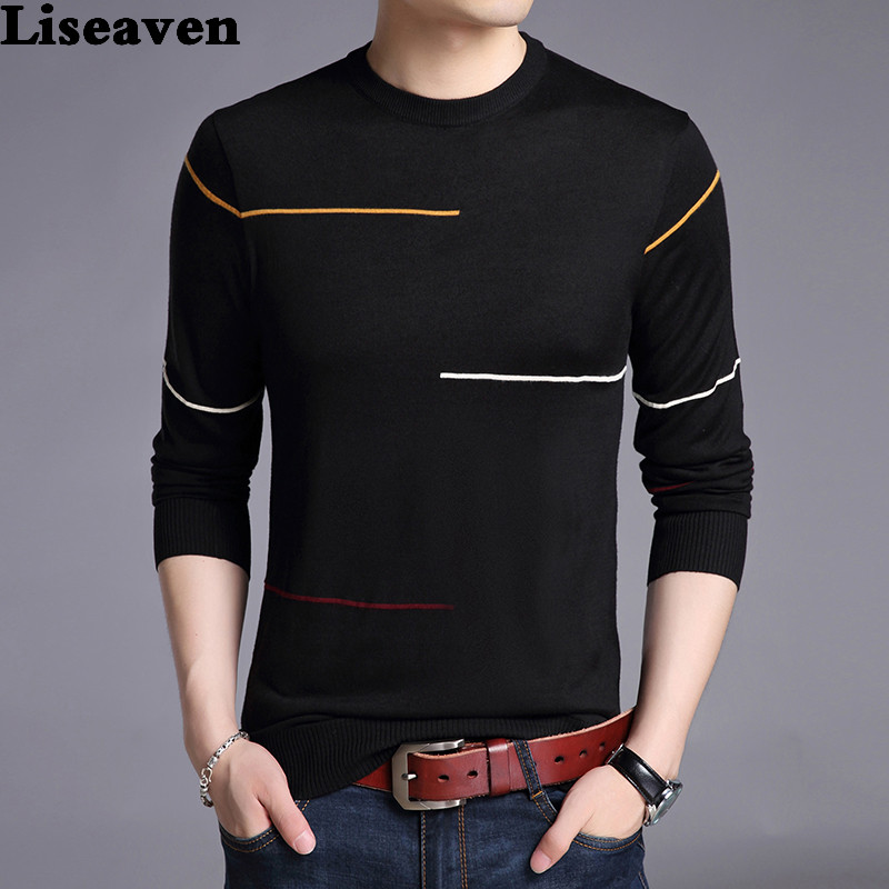 Liseaven Winter Sweater Men Brand Pullover Casual Sweater Male O-Neck Slim Fit Knitting Mens Sweaters Man Tops