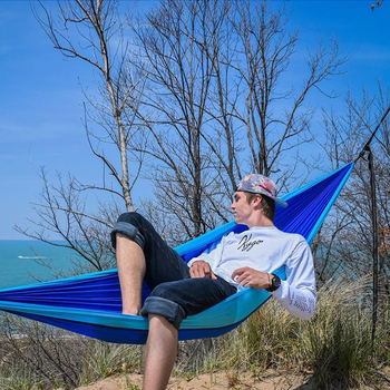Camping Hammock Outdoor Sports Leisure  Travel Hang Bed Double 2 Person camouflage  Travel Parachute Home Hammocks