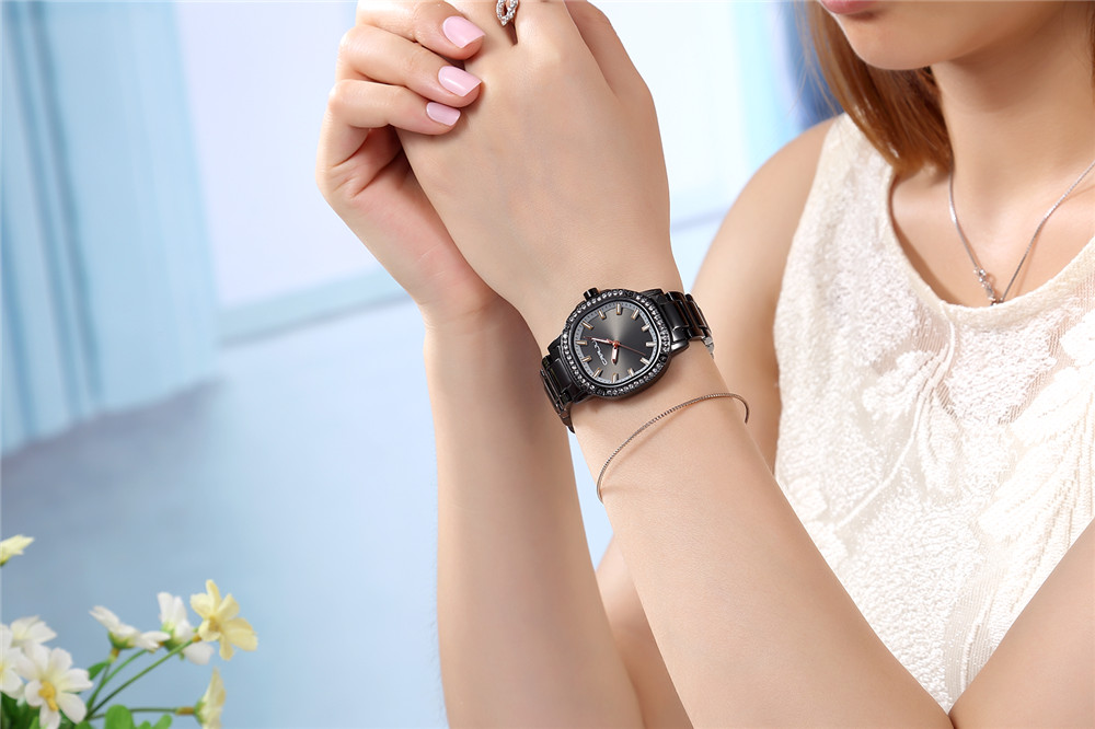 Image 5 - CRRJU Newest Japan Brand Women Watches Modern Retro Waterproof Ladies Watches Crystal Rose Gold Stainless Steel Montre Femme-in Women's Watches from Watches