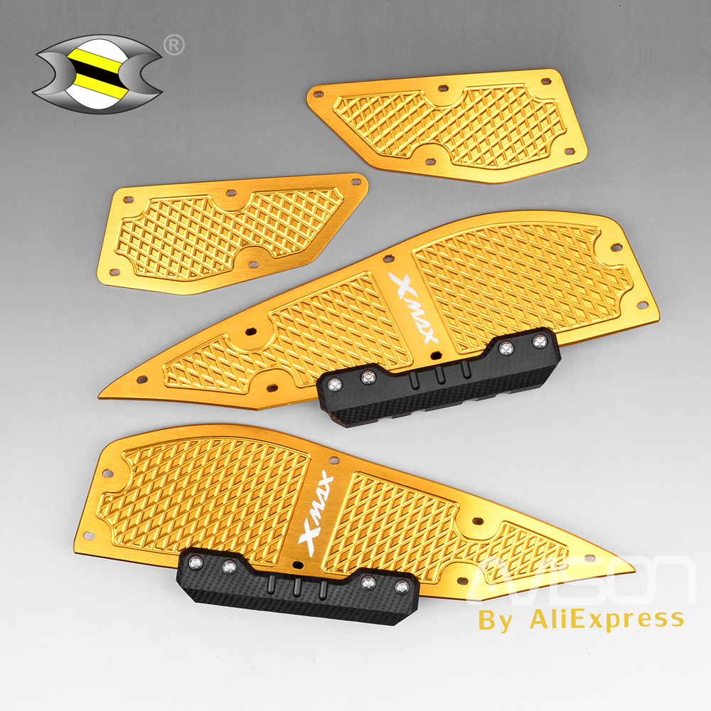 For YAMAHA XMAX 250 XMAX 300 XMAX 400 X-MAX 250 X-MAX 300 X-MAX 400 2017-2018 Scooter Footrest Footboard Step Foot Plate