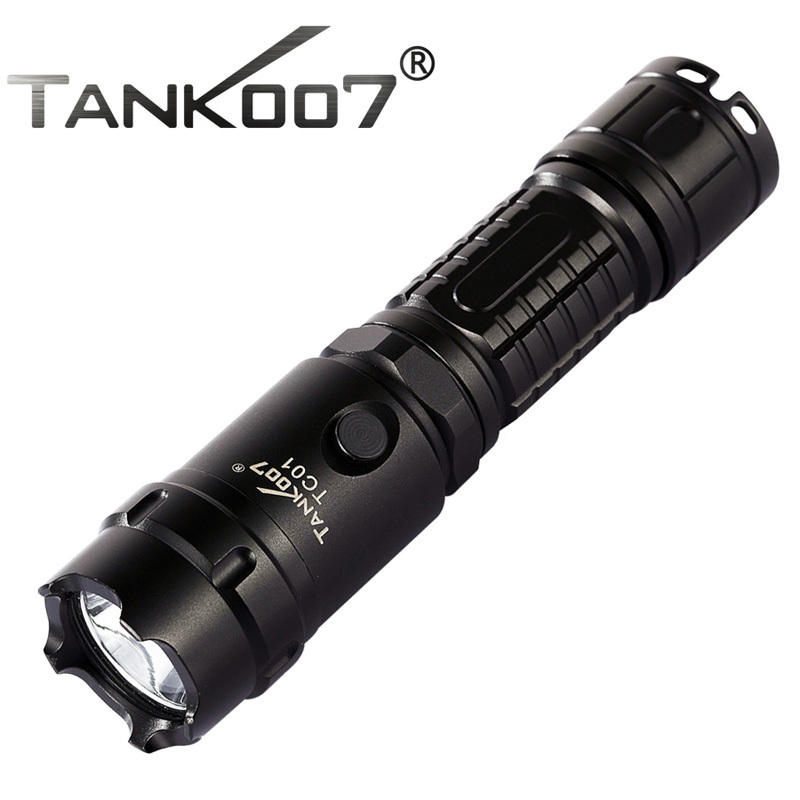 Tank007 TC01 CREE XM-L U2 1000lm Led Flashlight by 1*18650 Battery Led Recargable for Hiking,Camping,Night Riding,Searching цена 2017