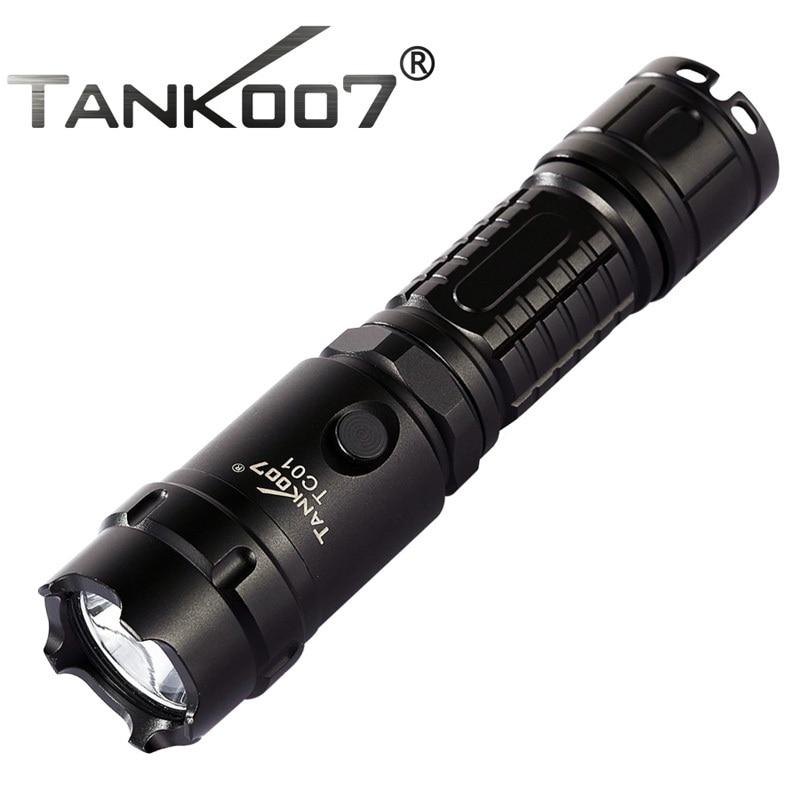Tank007 TC01 CREE XM-L U2 1000lm Led Flashlight by 1*18650 Battery Led Recargable Hiking,Camping,Night Riding,Searching