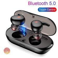 Cápsula TWS Fones de Ouvido Sem Fio Bluetooth 5.0 Fone de Ouvido Fone de ouvido À Prova D Água Esporte Fones de Ouvido Handsfree Fones De Ouvido Com Caixa de Carga