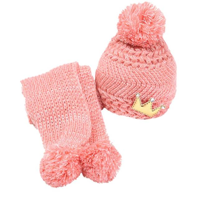 Online Shop Winter Baby Cute Warming Wool Knitted Crochet Cap with a ...