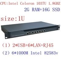 1037U Multi Gigabit Network Port Routing Enterprise Class Firewall Router With Intel PCI E 1000M 6