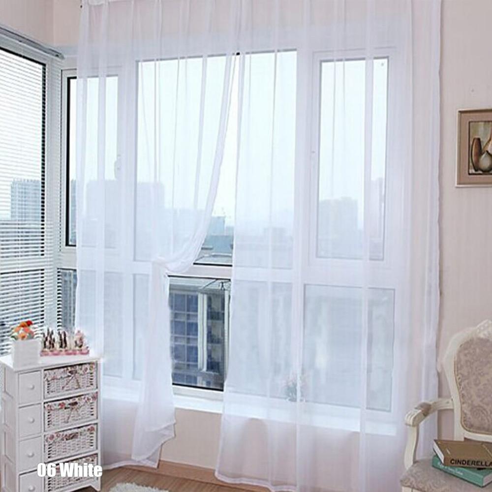 tienda online unid nueva simples cortinas de casa moderna cortinas para la sala de decoracin de la ventana de gasa pura del color del caramelo solo panel