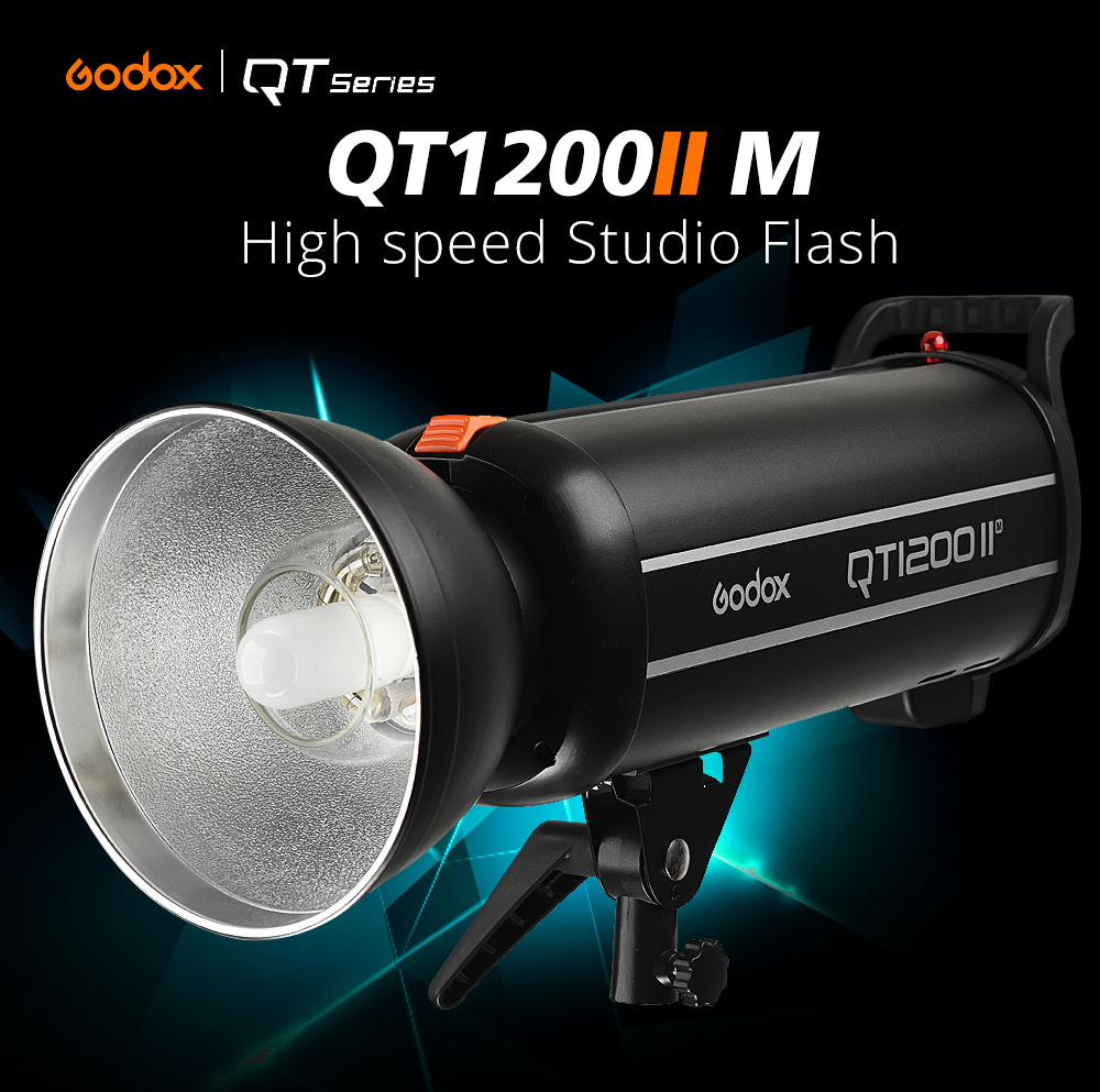 New Godox QT1200II QT1200IIM 1200WS GN102 1/8000s High Speed Sync Flash Strobe Light Lamp Bulb with Built in 2.4G Wirless System