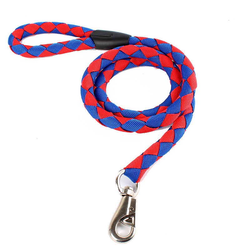 High Quality Durable Nylon Dog Leash For Big Dogs Harness Braided Leash Rope Pet collars Traction Rope Large Dog collars Leash