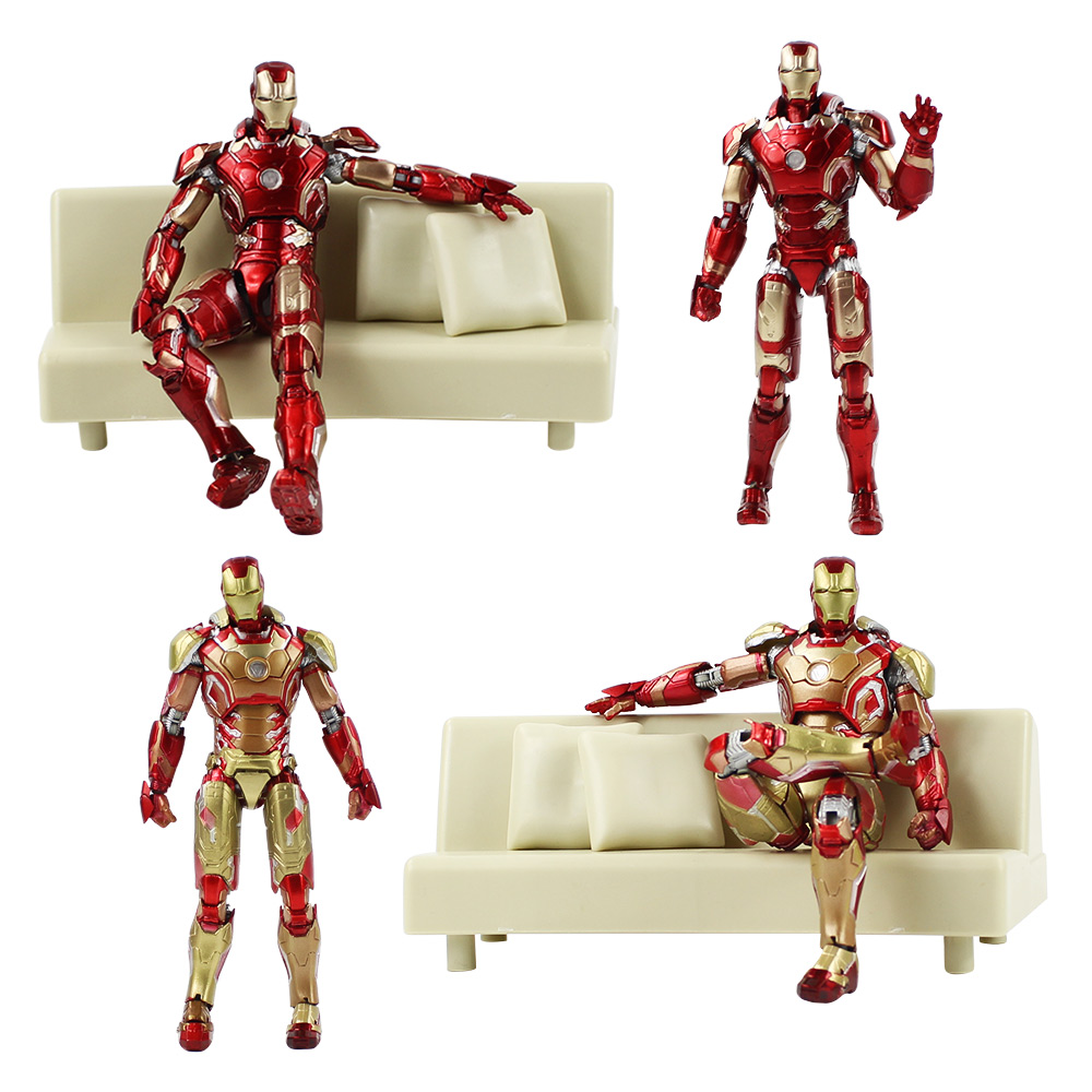Model Action-Figure Iron Man Mark-42 Collectiable-Toys Superhero PVC with Gifts Box 2styles