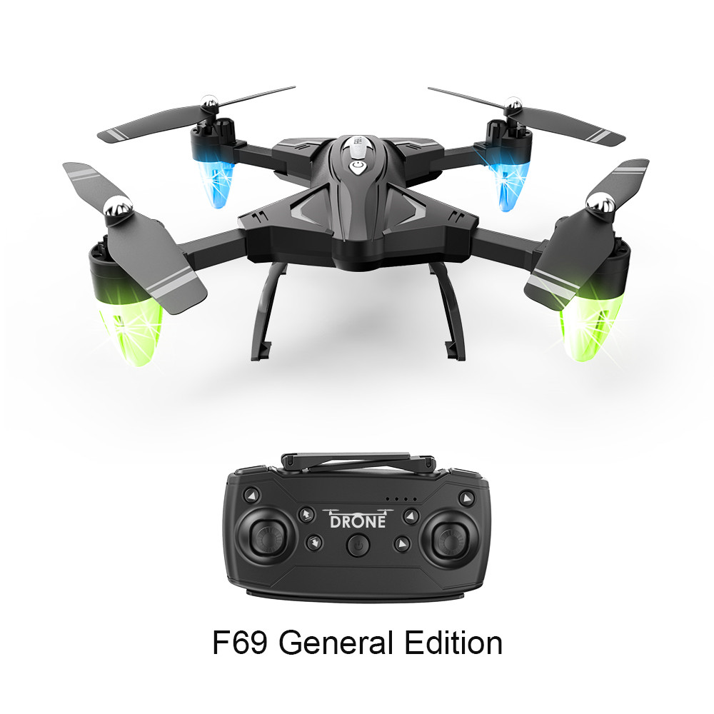 Image 2 - Drone F69 remote control wifi FPV,480P/10800P camera 6 Axis aerial toy 2.4G 4CH foldable aircraft photography pictures video APK-in RC Airplanes from Toys & Hobbies