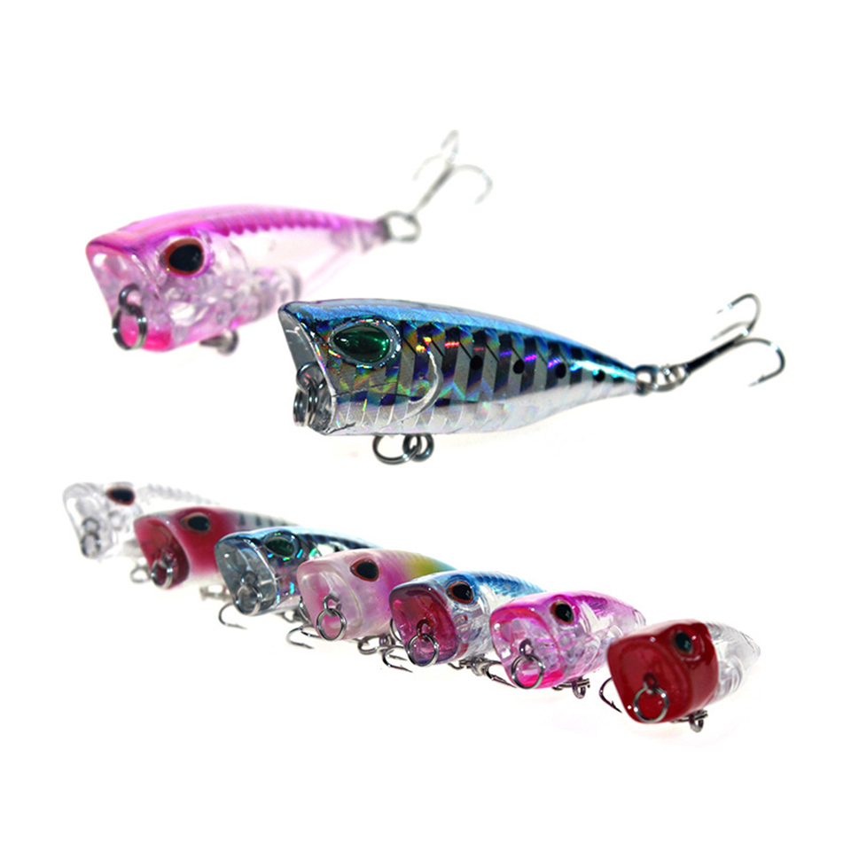 WALK FISH 1Pcs 3cm 4g Topwater Popper Fishing Lure Wobblers Hard Bait Carp Fishing Isca Artificial Painted bait Fly Fishing