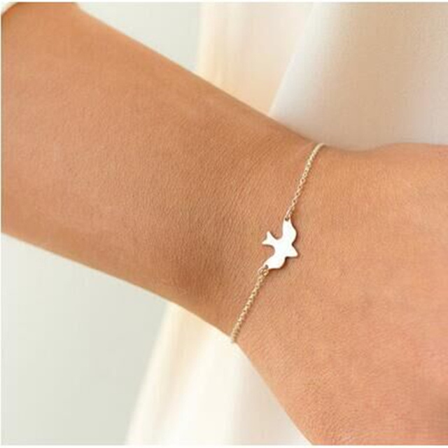 1 Pcs Fashion Bird Pendant Charm Chain Bracelet Swallow Baby Bird Couple Bracele