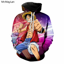Harajuku Anime One Piece 3D Print Luffy Jackets Men/Women Hiphop Streetwear Cool Boys Hipster Clothes 5XL Drop shipping