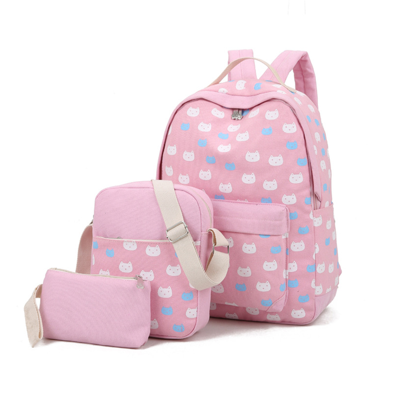 Famous Brand 2017 Preppy Style School Bag for Girls Canvas Backpack Women s Casual Daypacks Female