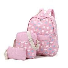 Известный бренд 2017 элегантный дизайн школьная сумка для девочек холст рюкзак женская свободного покроя женские с Кошелек Дорожная сумка Sac