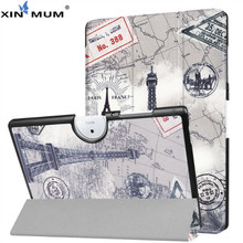 XIN-MUM for Acer Iconia One 10 B3-A40 B3 A40 Printed Case Magnetic Smart Filp Stand Cover for Iconia One 10 B3-A40 B3 A40 10.1