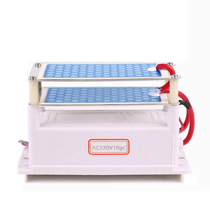 Image 1 - 220V/110V 10g Portable Ceramic Ozone Generator Double Integrated Long Life Ceramic Plate ozonator air Water Cleaner Air Purifier
