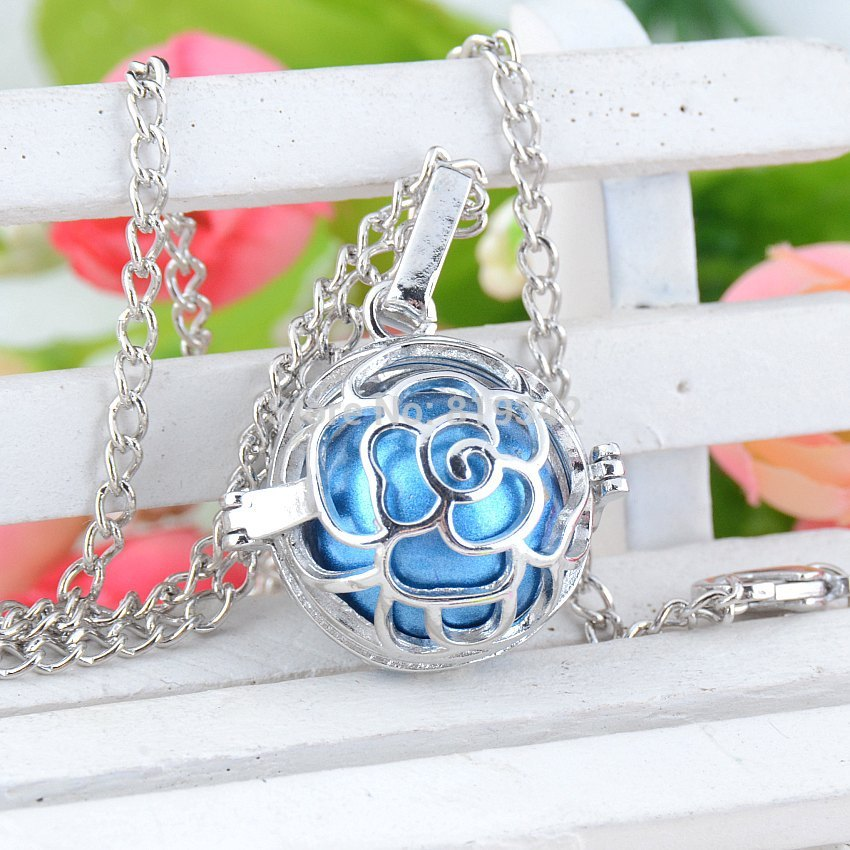 mum gift Pregnancy Baby Gift Blackened angel mexico bola pregnant bell engelsrufer necklace 24 y0029