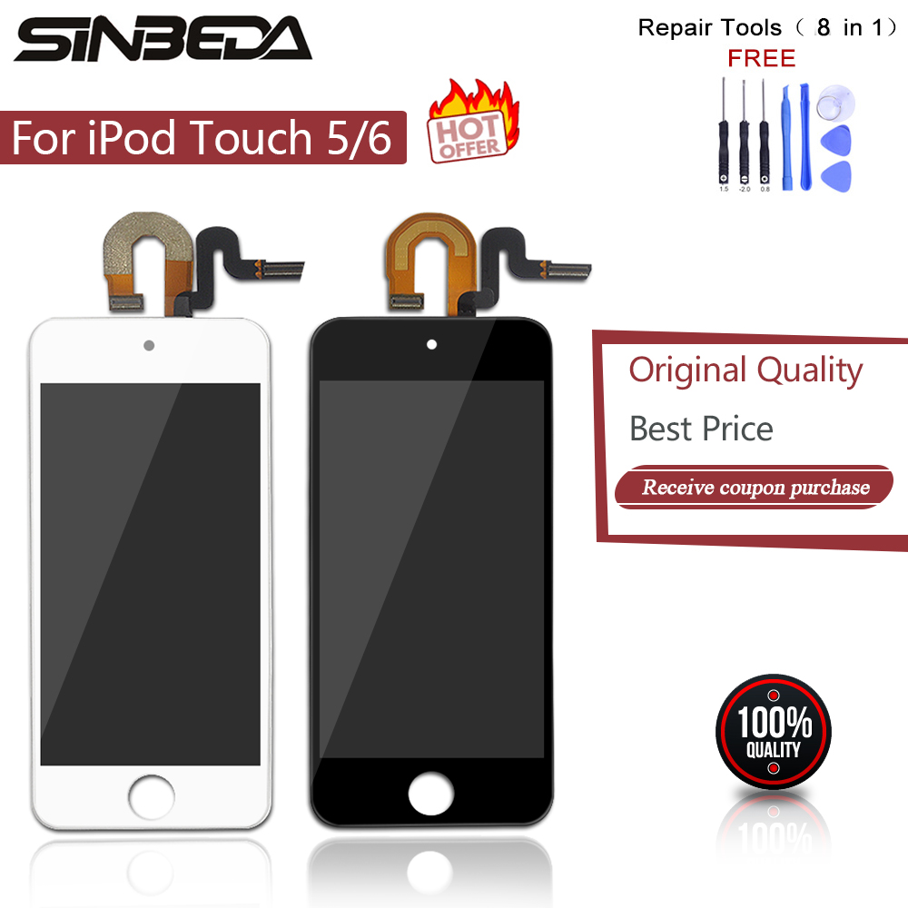 Sinbeda LCD For ipod Touch 5 5th LCD Display Touch Screen Digitizer Full Assembly For iPod Touch 6th 6 LCD Display Screen Touch5(China)