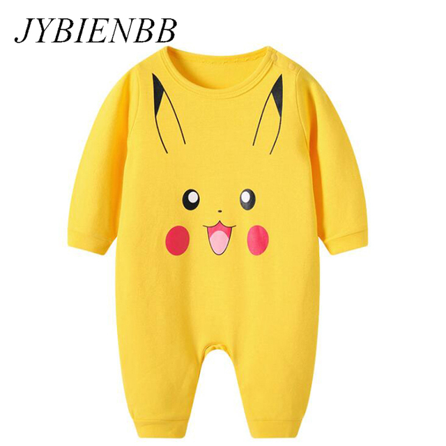 d8e48ad984 Baby Cartoon Pikachu Pajamas Clothing Newborn Infant Rompers Onesie Boys  Girls Babe Animal Dog Costume Outfit