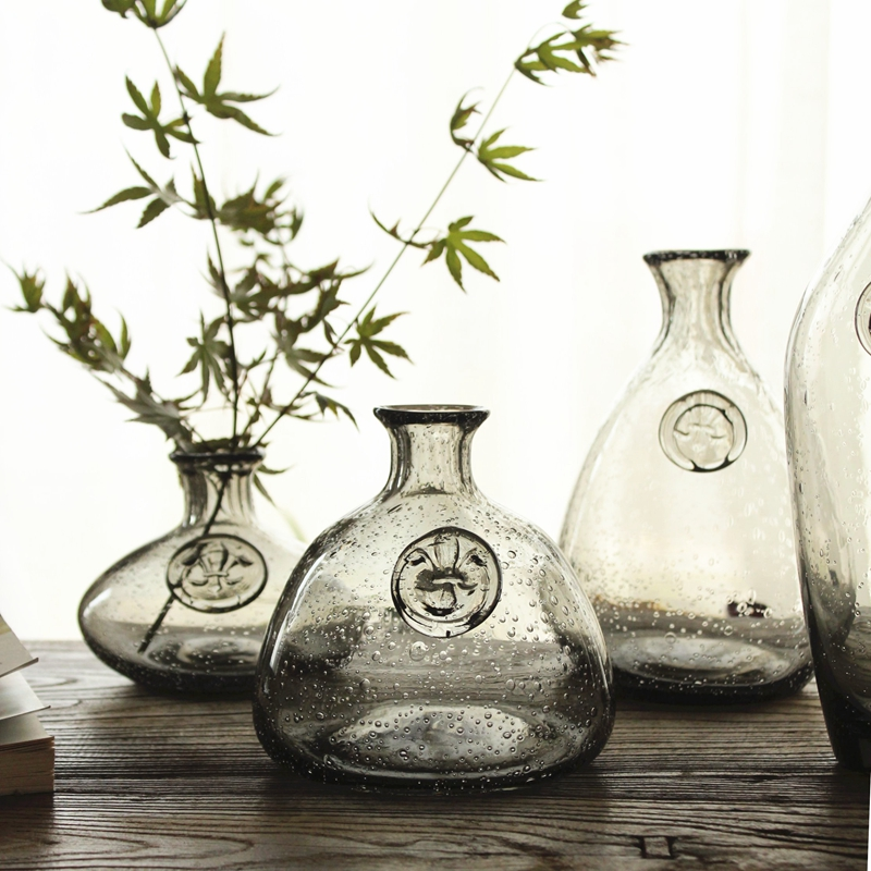 Buy fashion creative handmade glass for Decoration vases modern