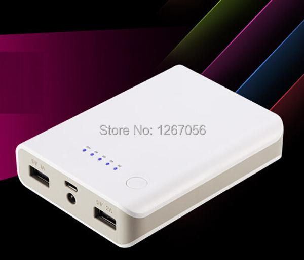 Universal 18650 Banco De Potência Portátil 10000 mah Externo USB Carregador de Bateria de Backup de Energia para Celulares Tablets