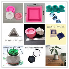 Concrete Flower Pot Mold Handmade Craft Clay Molds Multi-function Silicone Pot Mould for Succulent Plants Cactus Planting(China)