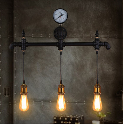 IWHD Loft Vintage LED Wall Lamp Retro Industrial Wall Light Iron Water Pipe Fixtures For Home Lighting Applique Murale Luminaire