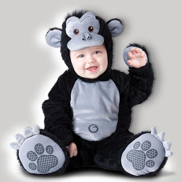 bfec0a0e8 Lovely Cartoon Animal Style Newborn Baby Climbing Romper Infant Boys Girls  Jumpsuits Pajamas Cosplay Costume