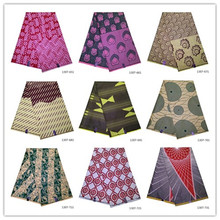 ankara african wax print fabric wholesale 100% Polyester prints latest tissu 6 yards