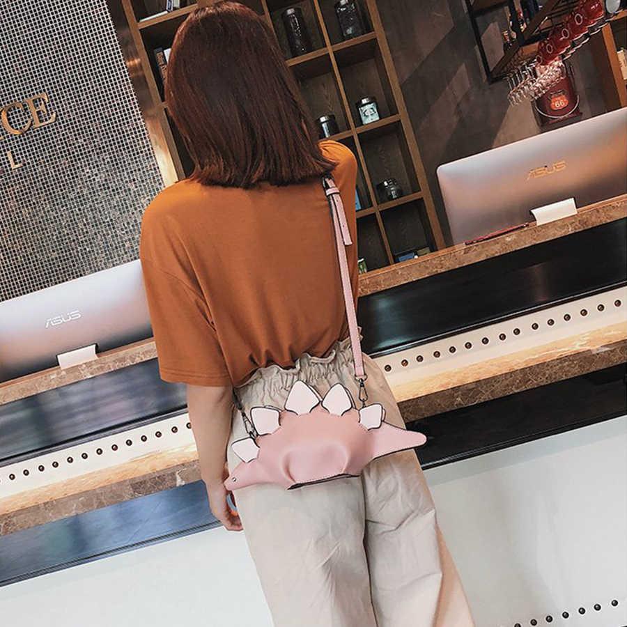 Harajuku 3D сумка-мессенджер с динозавром многоцветная сумка через плечо с животными вечерние клатчи Женская Ручная сумка дорожный кошелек 2019