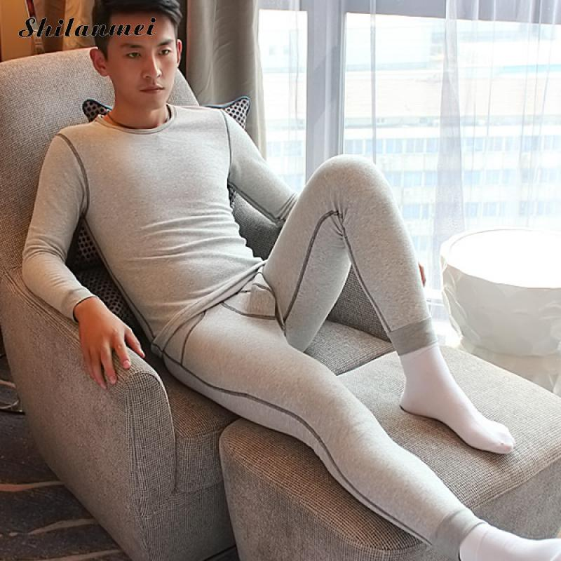 Winter Men Cotton Thermal Warm Underwear Sets Long Johns Sets Thermos termica Cueca Paja ...