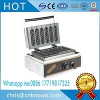 2017 Commercial Digital thermostat 6pcs hot dog waffle machine;stainless steel hotdog waffle maker