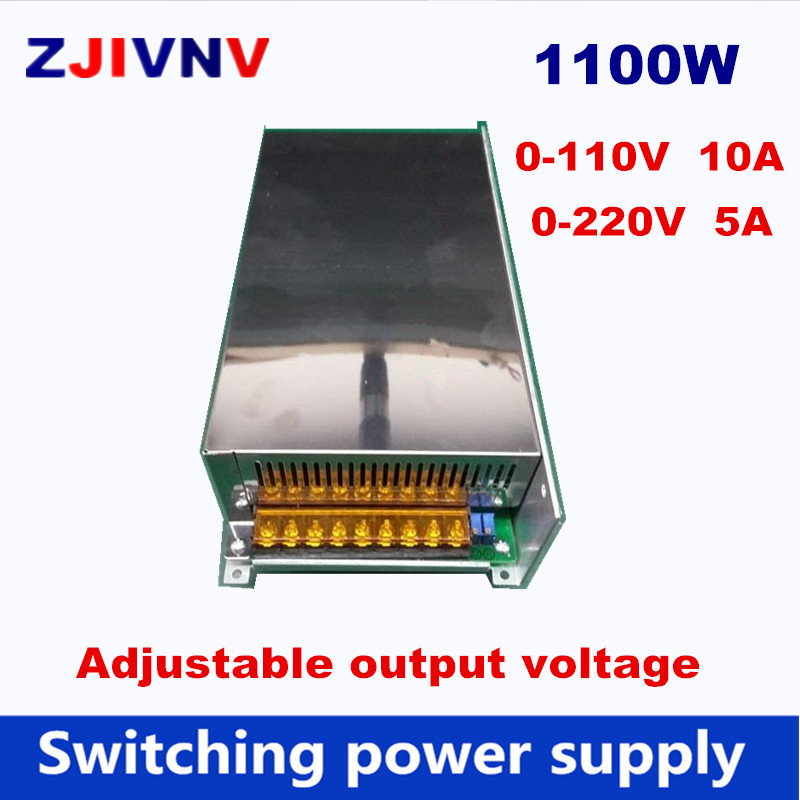 цена на 1200w Switching Power Supply 0-110V 10A DC output voltage adjustable, 0-220V 5A AC-DC power supply AC input 110V or 220V