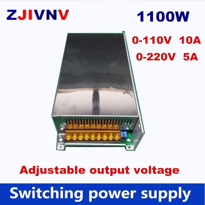 купить 1200w Switching Power Supply 0-110V 10A DC output voltage adjustable, 0-220V 5A AC-DC power supply AC input 110V or 220V по цене 7828.04 рублей