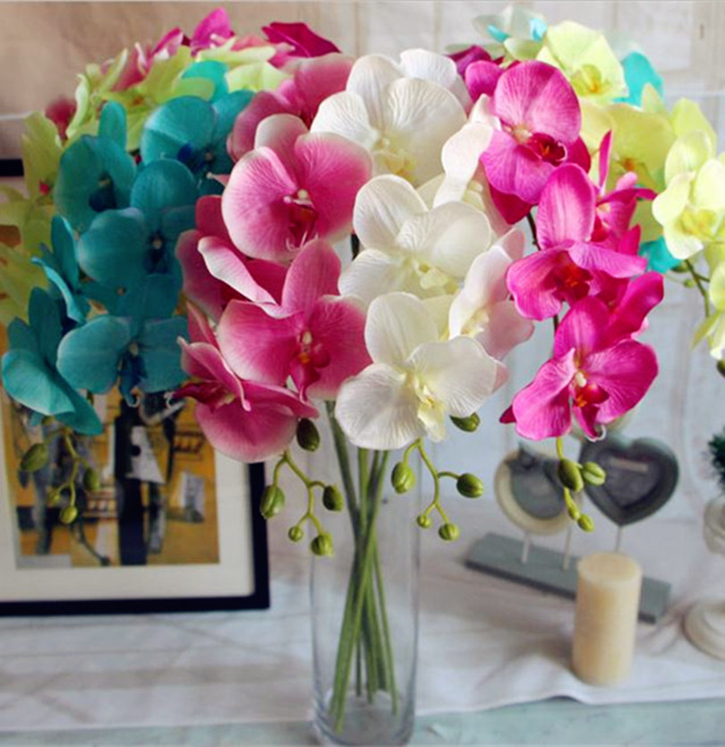HOT Silk Single Stem Spring Orchid 108cm/42.52