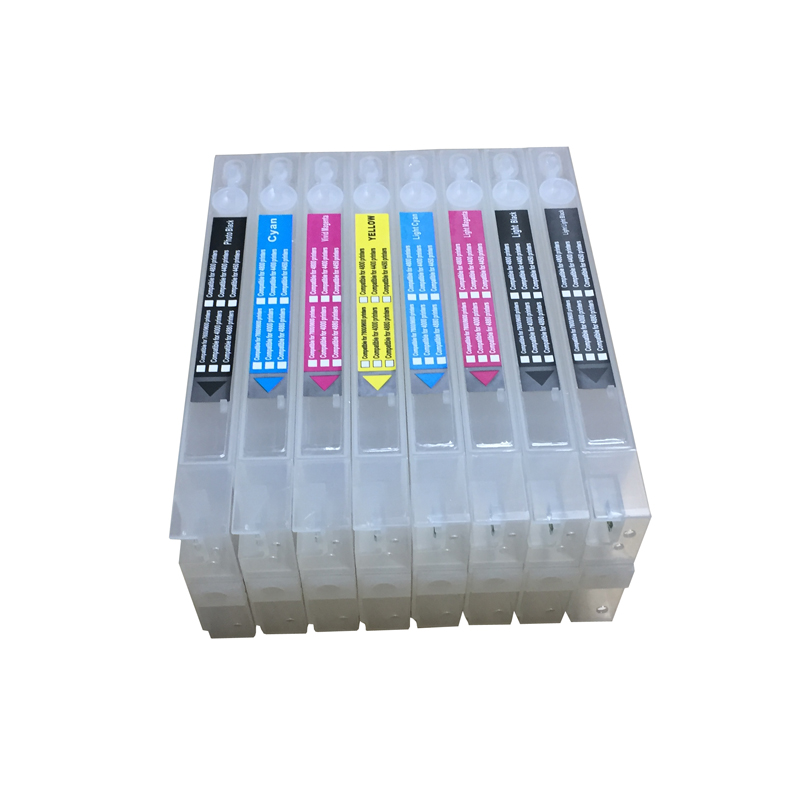 hot sales good quality 8 colors 4800 Refillable ink cartridges empty for Epson stylus pro 4800 with chips and chip resetter 11color refillable ink cartridge empty 4910 inkjet cartridges for epson 4910 large format printer with arc chips on high quality