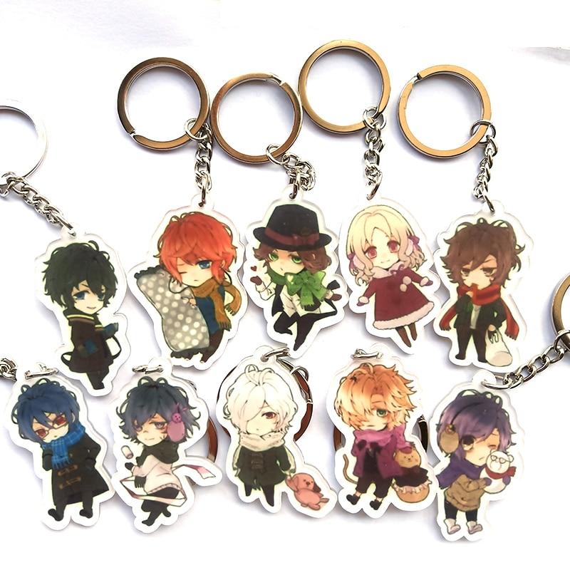 Anime Keychain Diabolik Lovers Komori Yui Ayato Sakamaki Syu Sakamaki Reiji  Pendant Keyring Portachiavi Keychain Kulcstarto