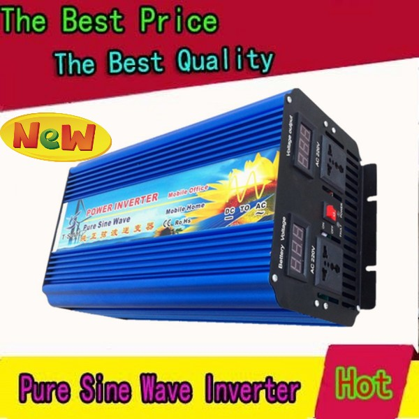 4000W Pure Sine Wave Power Inverter Peak 8000w off-grid DC12V 24V 48V AC 100V 110V 220V 230V 240V solar  wind system 2500w pure sine wave off grid inverter solar wind inverter 2500w 110v dc to ac 100v 110v 220v 230v 240v with peak power 5000w