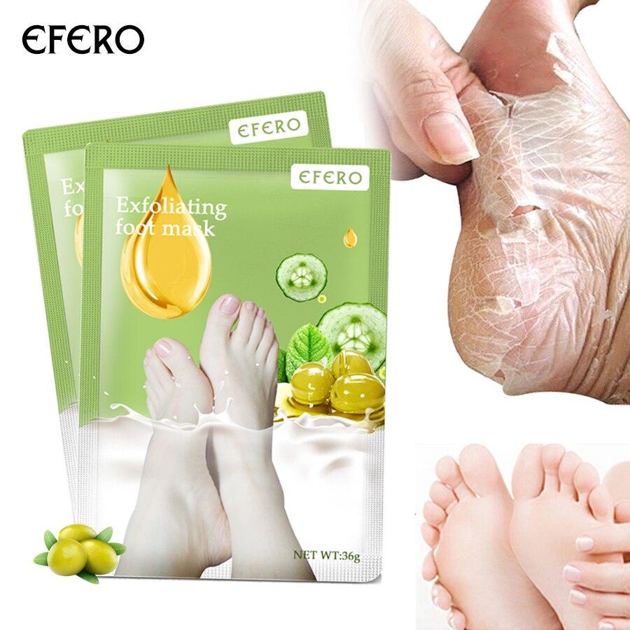 Efero 1 Paar = 2 Stücke Peeling Fuß Maske Pediküre Socken Baby Füße Maske Für Beine Creme Für Entfernen Abgestorbene Haut Heels Fuß Peeling Maske Hohe Belastbarkeit Hautpflege