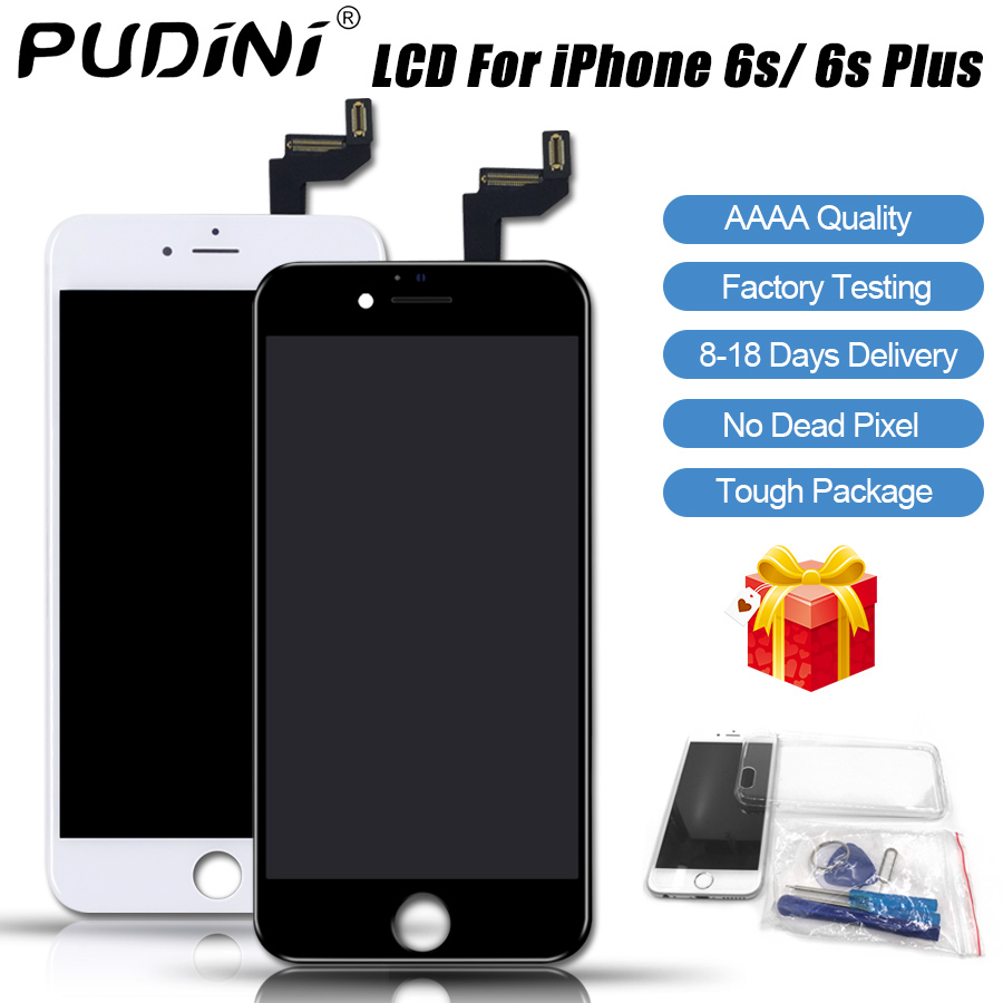 PUDINI AAAA 100% Original Screen LCD For iPhone 6S Plus LCD Replacement Display Touch 6S Plus Screen Tool Kits Screen LCDS