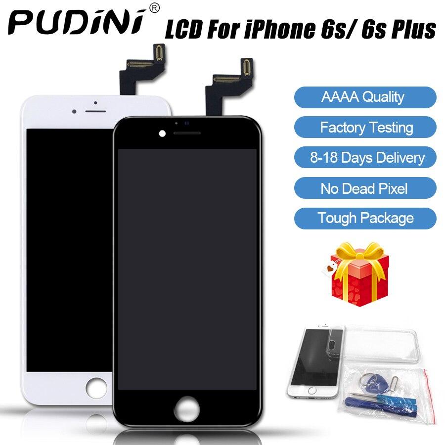 PUDINI AAAA 100% pantalla LCD Original para el iPhone 6 s más LCD reemplazo pantalla táctil 6 s pantalla herramienta kits pantalla LCD