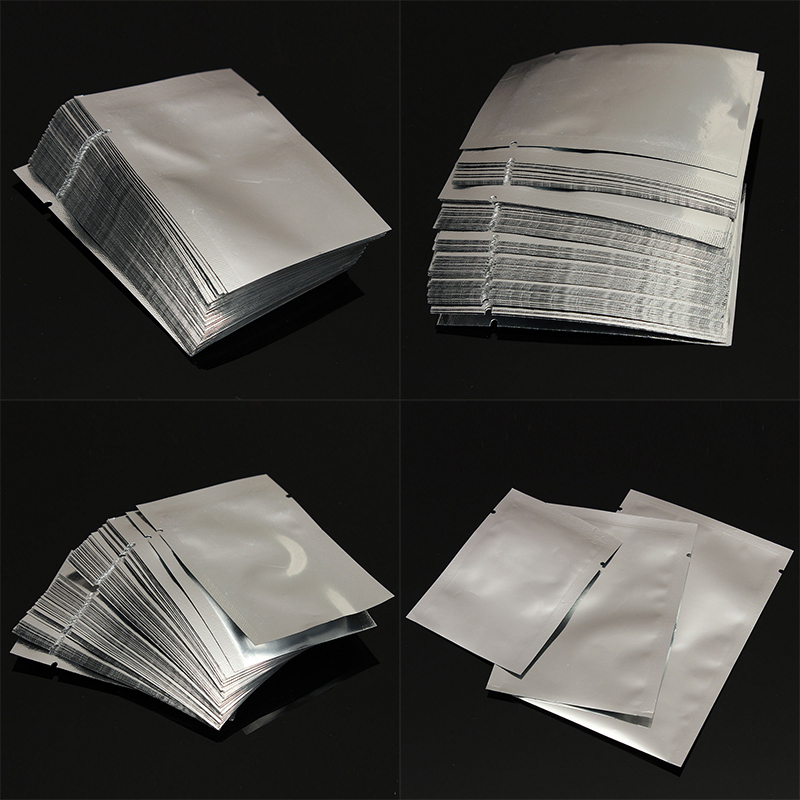 100pcs Silver Aluminum Foil Mylar Bags Vacuum Sealer