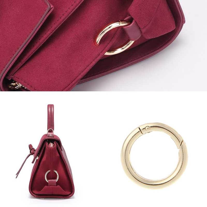 5 шт. Круглый Круг пружинная защелка для DIY крюк для ключей сумка сумочка с застежкой кошелек