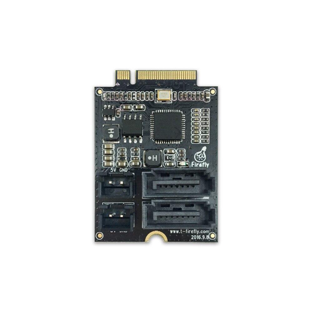 PCIe M.2 to SATA3.0 Adapter Board ,Extension board work with Firefly RK3399 Demo Board pcie m 2 to sata3 0 adapter board extension board work with firefly rk3399 demo board