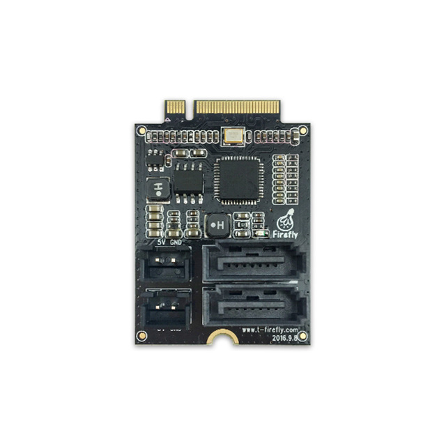 US $19 9 |PCIe M 2 to SATA3 0 Adapter Board ,Extension board work with  Firefly RK3399 Demo Board-in Demo Board Accessories from Computer & Office  on