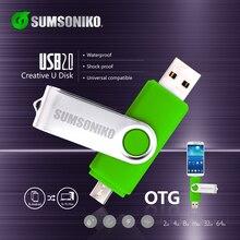 OTG phone Usb flash card USB flash Drive 7 color rotary Pen Drive memory stick USB pendrive usb stick 4gb 8gb 16gb 32gb 64gb