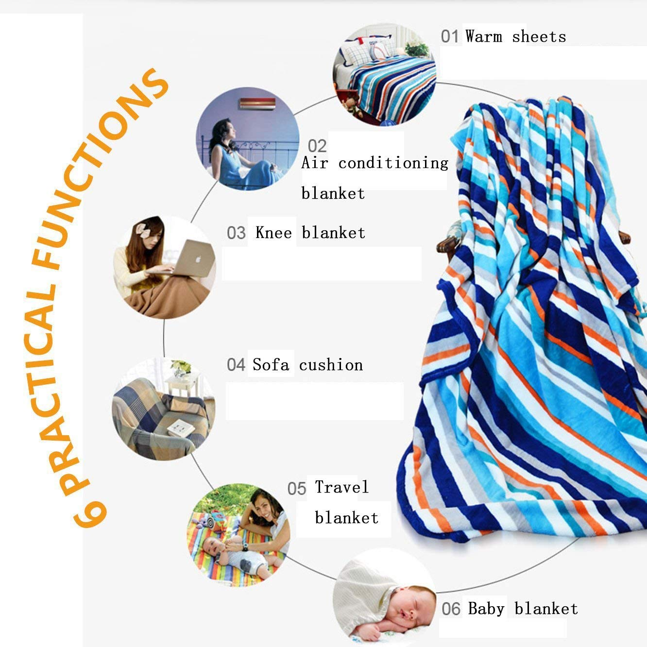 Africa Throw Blanket Panorama Of Safari Animals Gulls Reflections In Background At Sunset Scenery Warm Microfiber Blankets Aliexpress