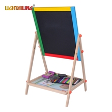 LIGHTAILING Brand Wooden Double Sided Magnetic Drawing Board Writing Board Sketchpad Easel Fantastic Blackborad Kid Toys